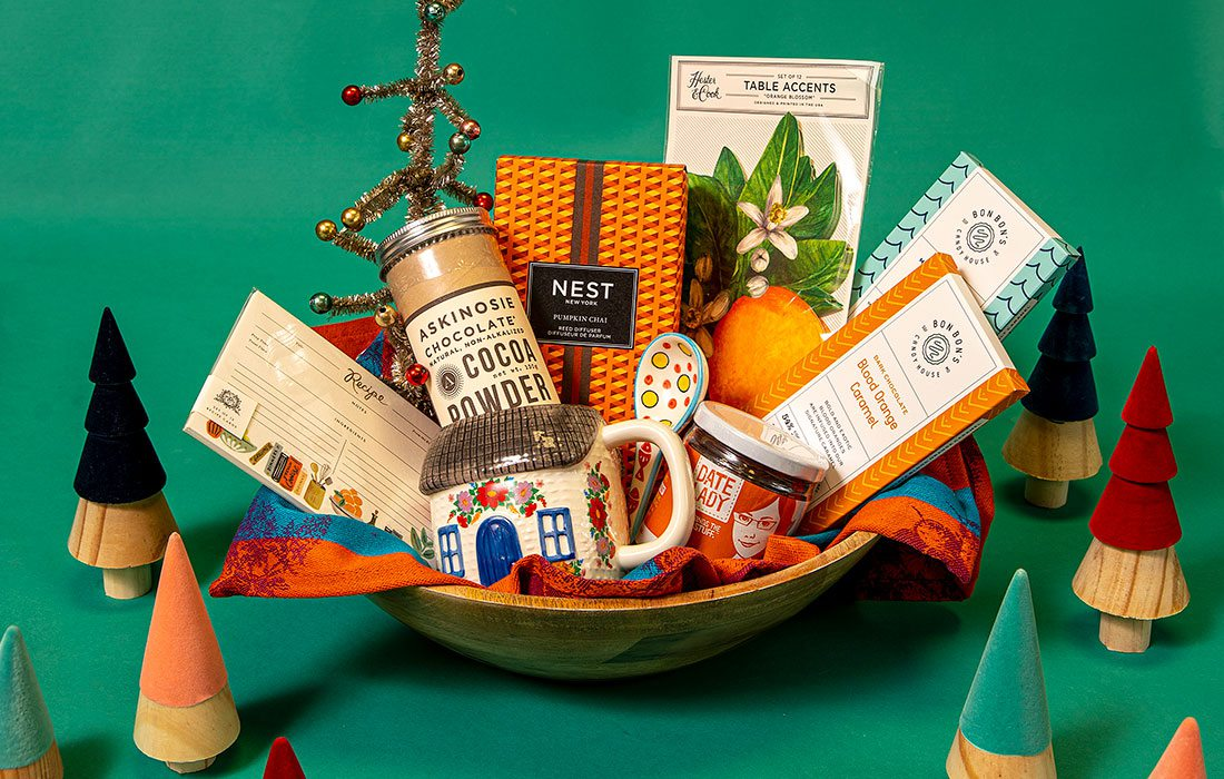 Gift basket photo by Brandon Alms