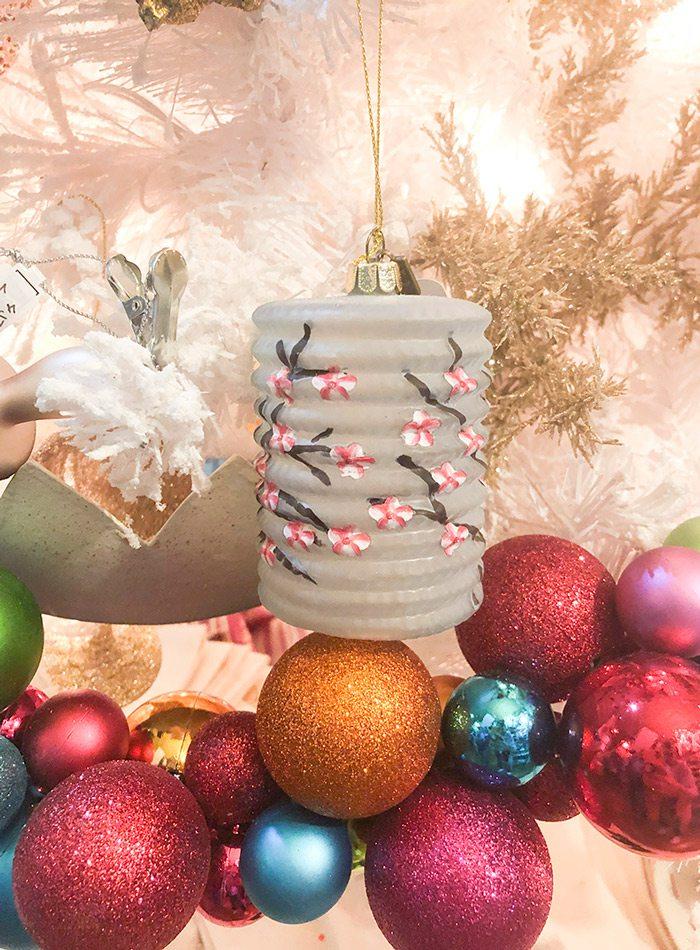 Paper lantern Christmas tree decoration