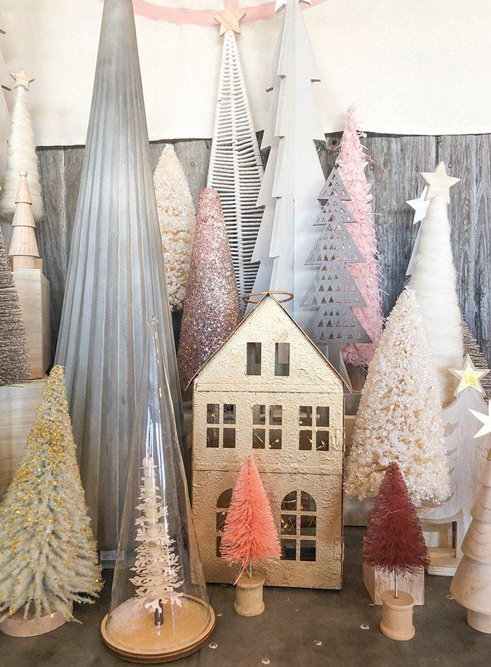 Christmas model display at Harrison House Market