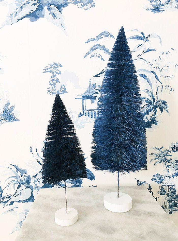 Blue Christmas tree display