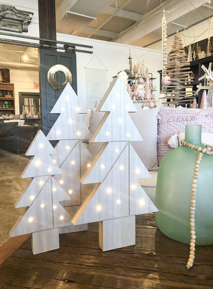 Scandinavian-inspired Christmas decor at Harrison House Market