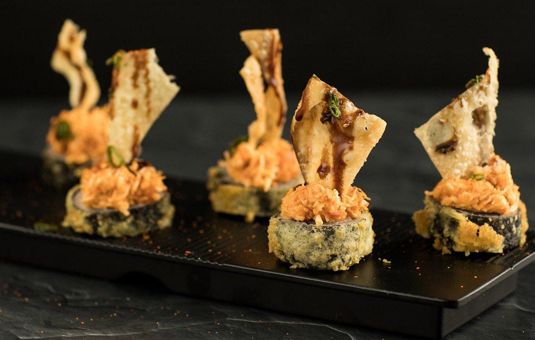 Hot Mess Sushi Roll at SushiFork