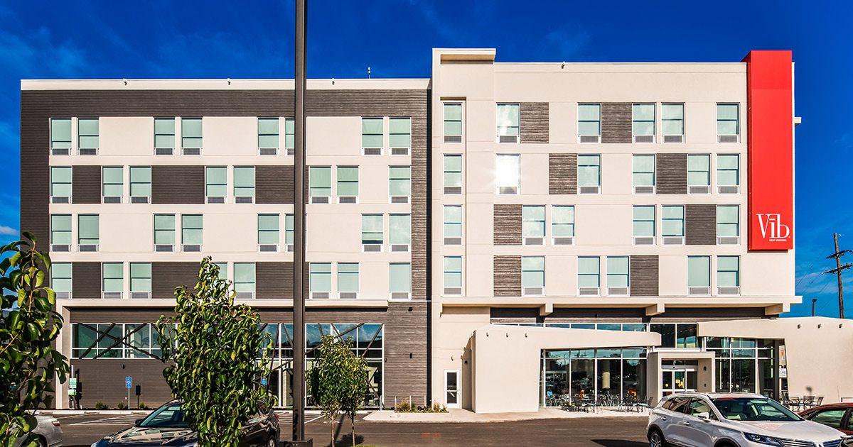 Vib Hotel modern exterior in Springfield MO