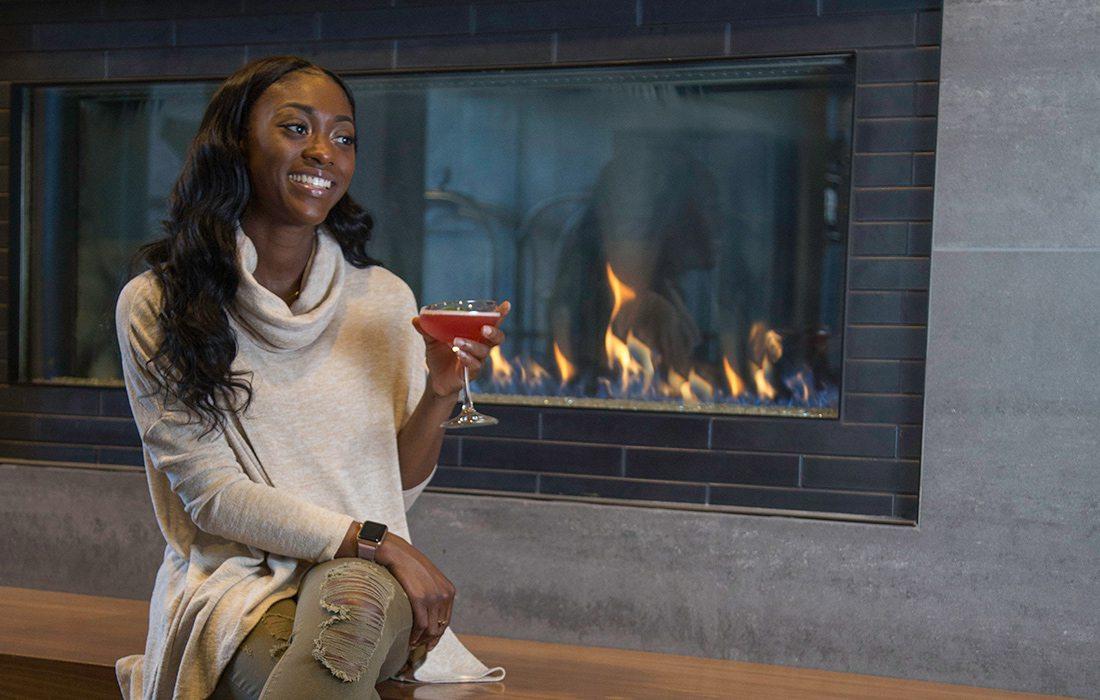 Fireplace at Hotel Vandivort, Springfield MO