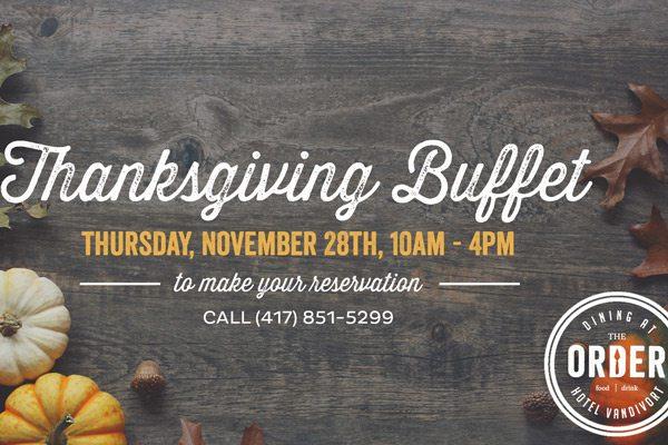 Thanksgiving header for Hotel Vandivort