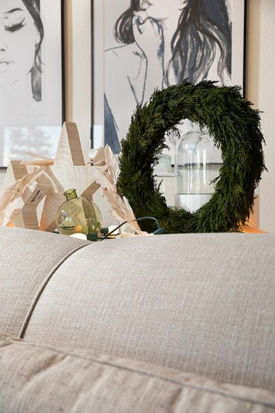 Wreath display at House Counsel