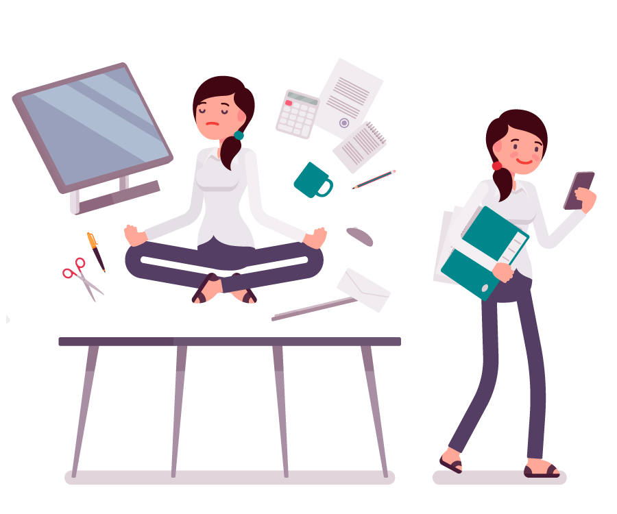 Managing stress and pressure at work.