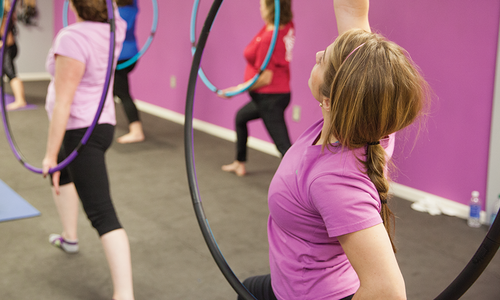 Hula Hoop Fitness Class at Fusion Fitness