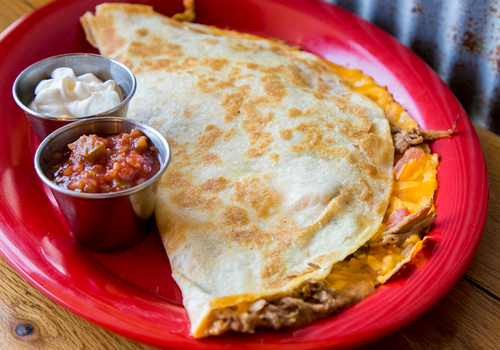 Pulled Pork Quesadilla at Heady BBQ