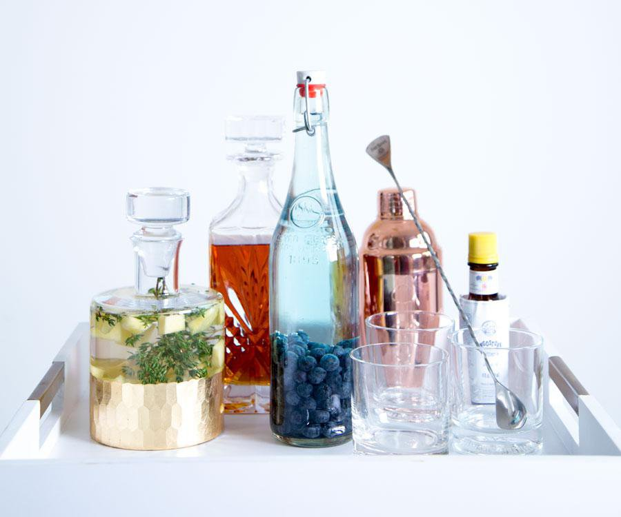 Tailor your liquor cabinet to your personal tastes by infusing your spirits.