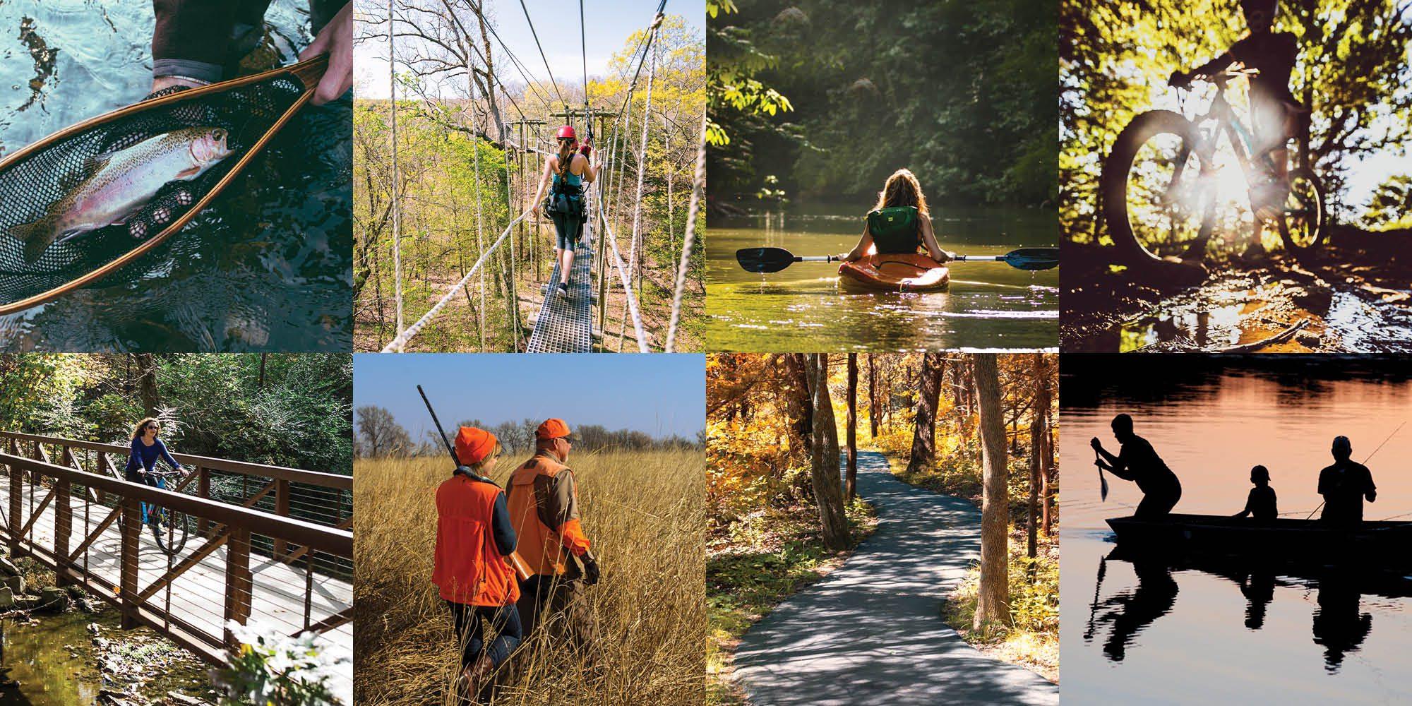 Various outdoors activities