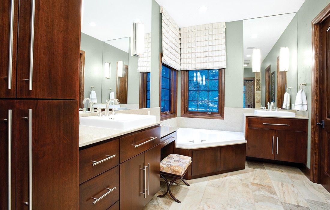 Spa like bathroom design by Andrea Deckard Springfield MO