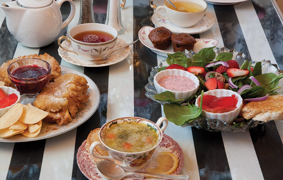 brunch at Tea Room at Vintage Suitcase Springfield mO