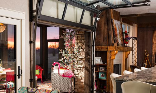 The Funky Garage Door Living Space We Love