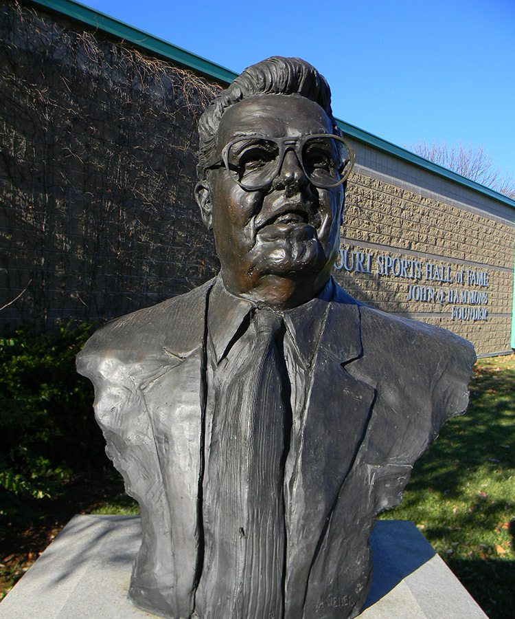 John Q. Hammons bust at the Missouri Sports Hall of Fame