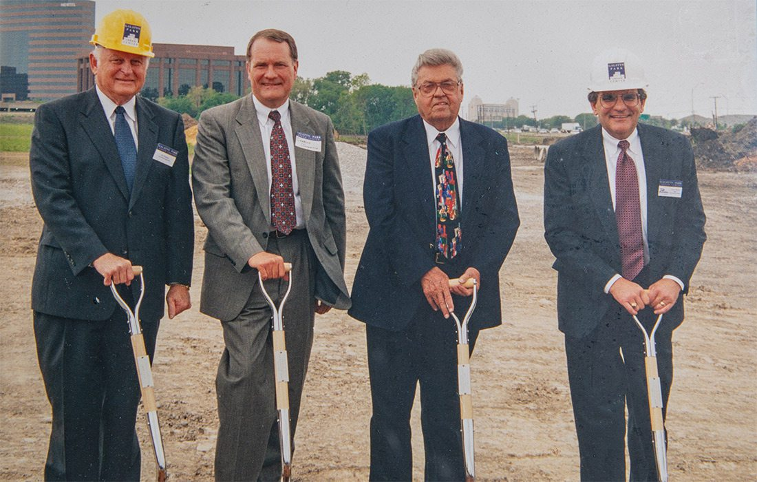 John Q. Hammons at a ground breaking ceremony for one of his many developments