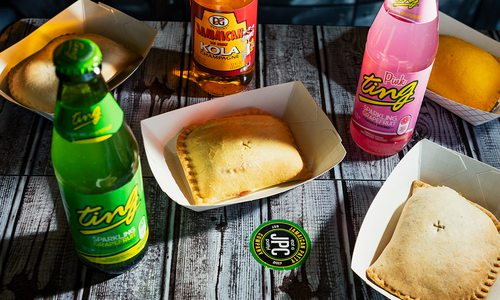 Spread of food from Jamaican Patty Company