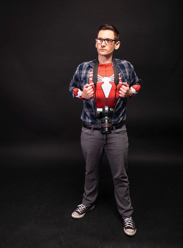 Jamie Thomas as Spider-Man Halloween 2019