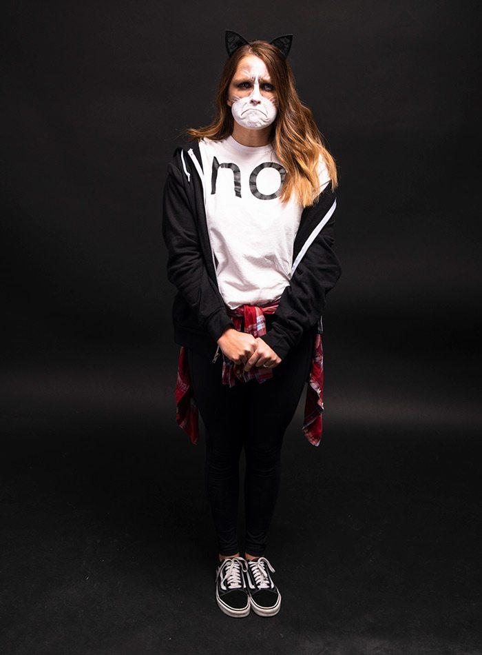 Jenny Mhire as Grumpy Cat Halloween 2019
