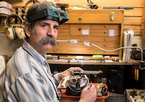 Craftsman Jim Downing Mastered Gun Engraving and then Marketing