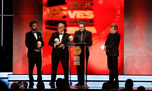 Bauer was recognized at the  Visual Effects Society Awards in 2018 when Mark Hamill (Luke Skywalker) was the presenter.