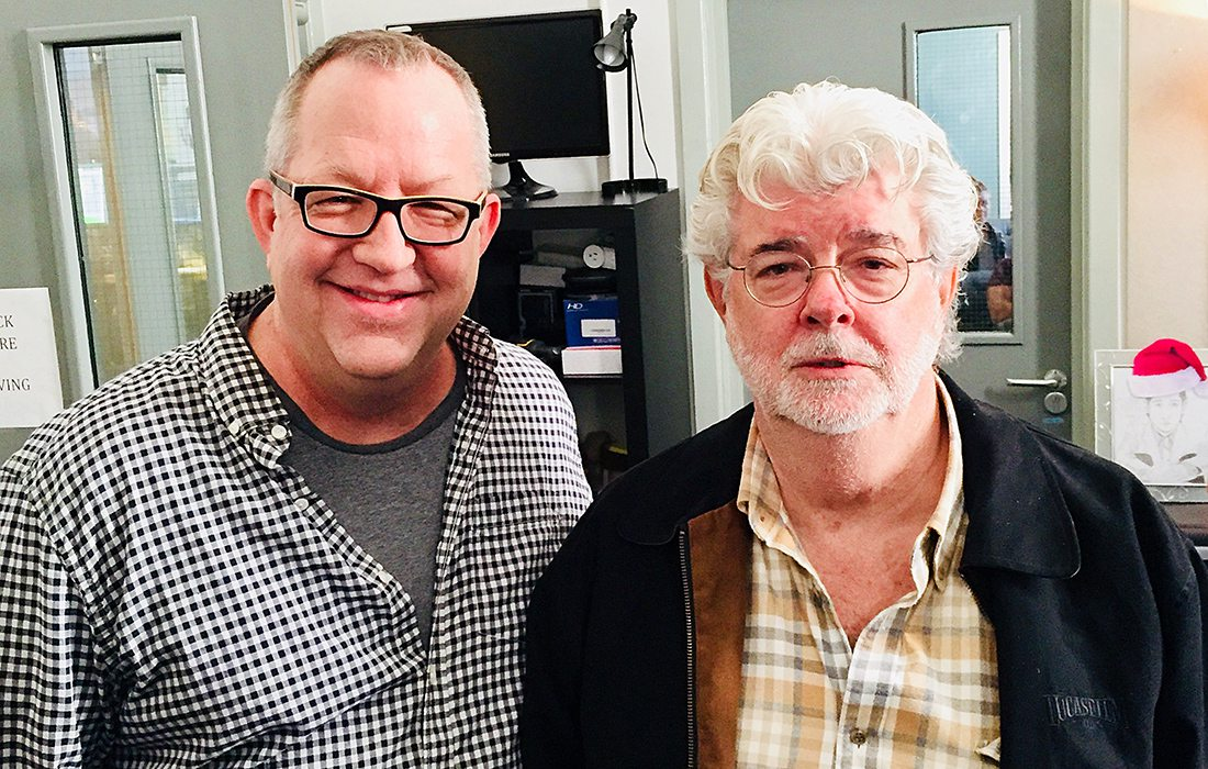 Joe Bauer with George Lucas