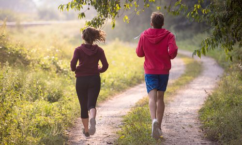 Outdoor jogging trail stock image