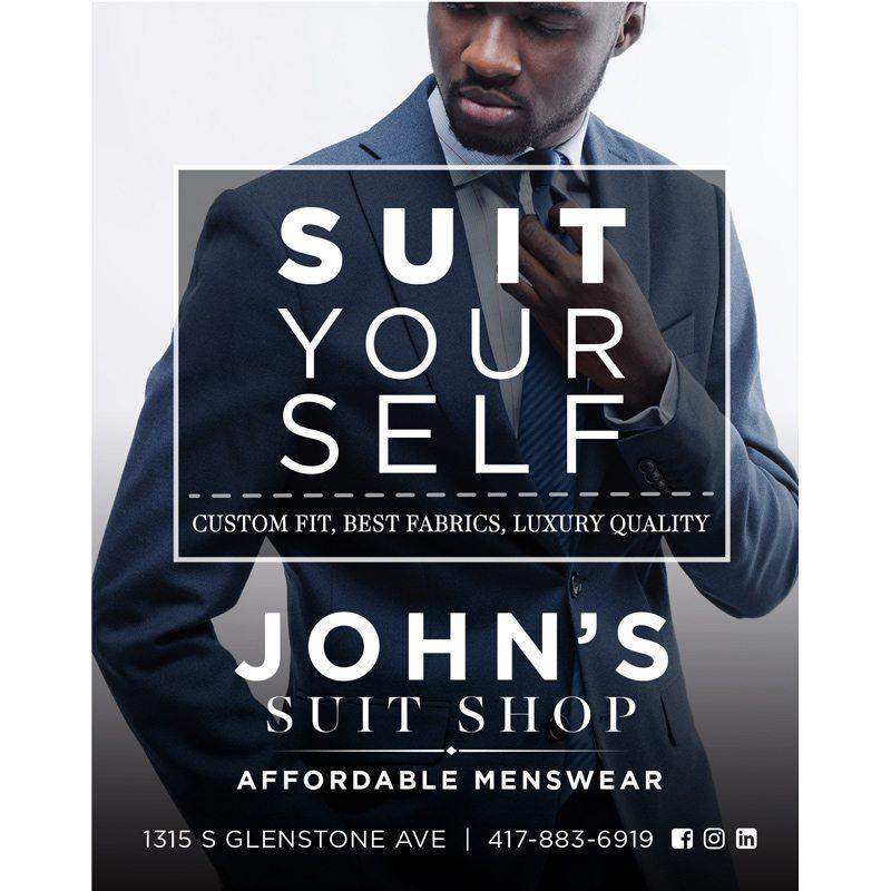 John's Suit Shop ad in Biz 417