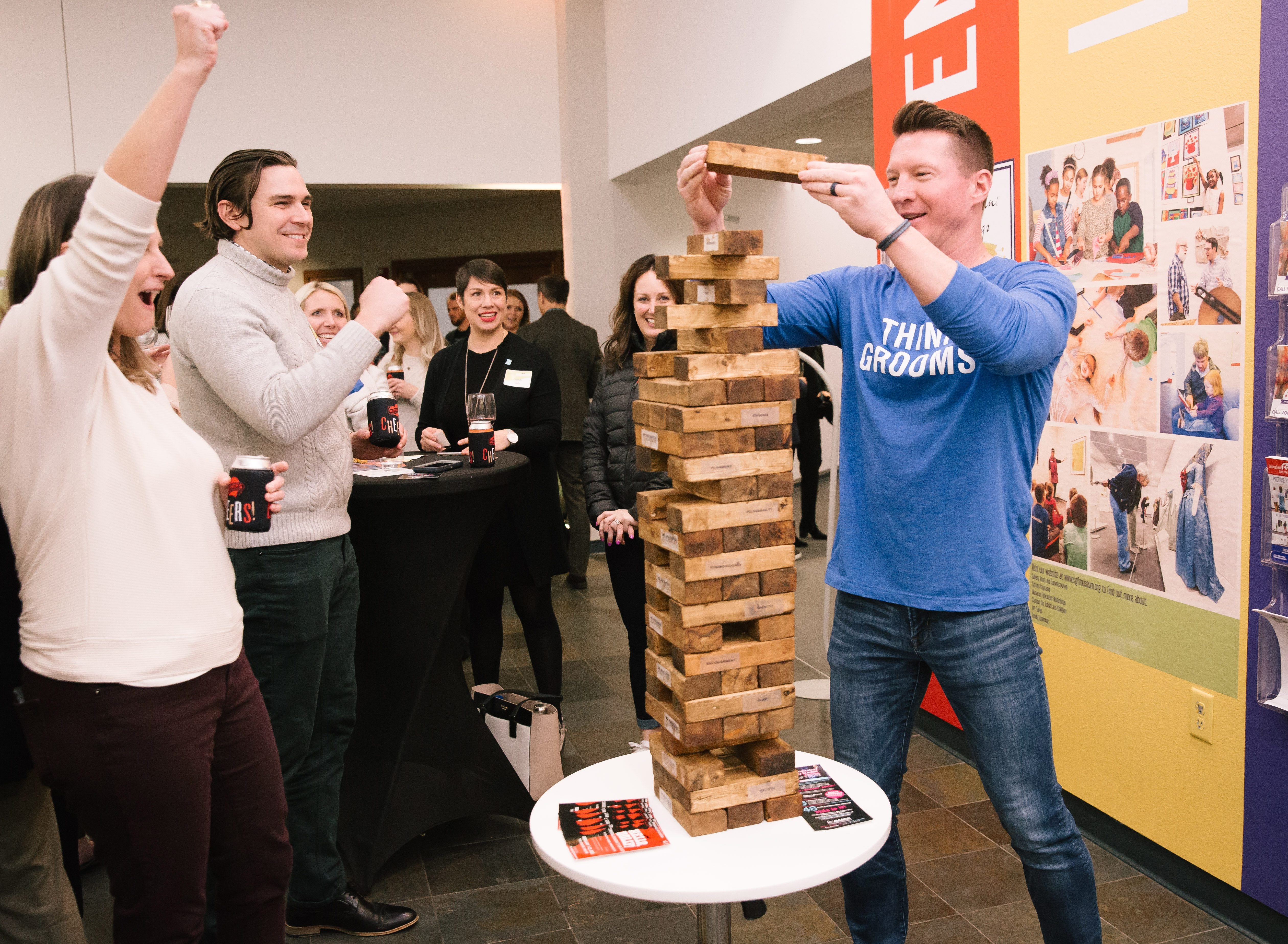 Jonathan Garard playing Jenga