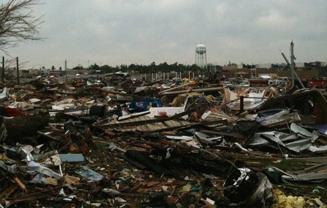 Destruction from the Joplin tornado of 2011