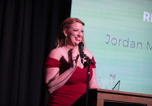 Jordan McAdoo with Stitch Fix wins the Rising Star Award at the 2019 Excellence in Technology Awards.