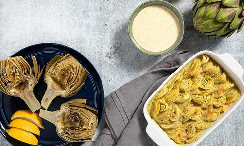 Artichoke dishes by Katie Baker