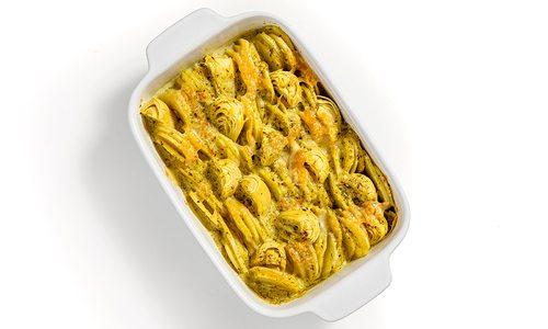 Potato and artichoke gratin