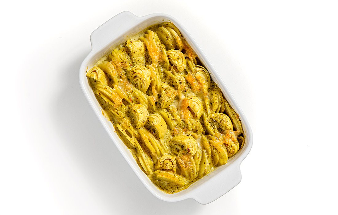Artichoke and potato gratin