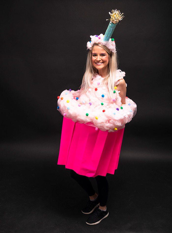 Katie Wilson dressed as cupcake Halloween 2019