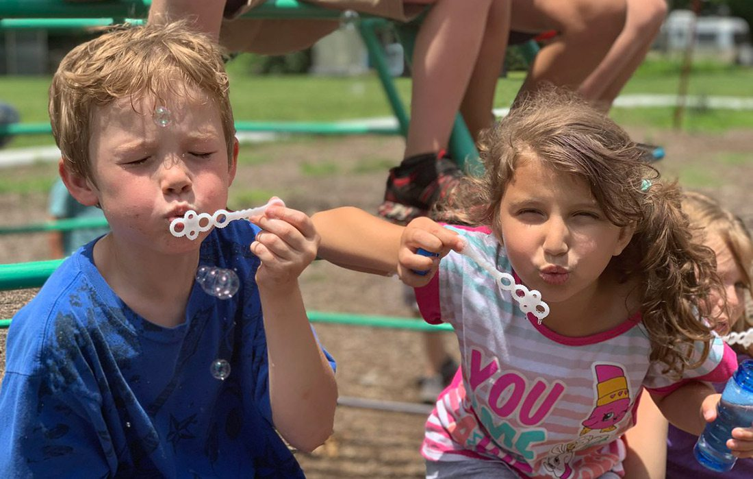 Young kids at Springfield Public Schools summer camp