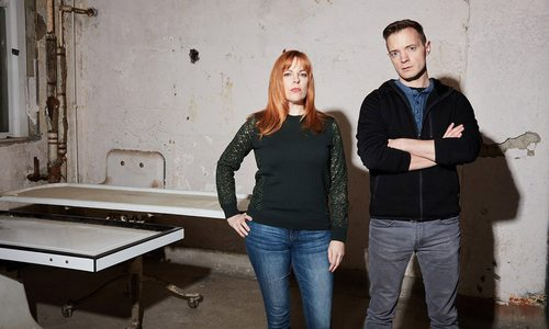 Amy Bruni and Adam Berry, stars and executive producers of Kindred Spirits on the Travel Channel