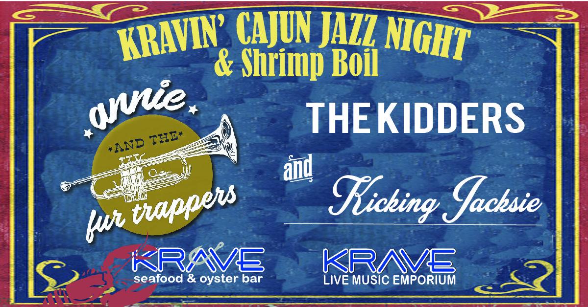 Kravin' Cajun Jazz & Shrimp Boil at Krave in Springfield, MO