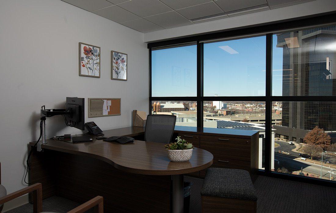 Kutak Rock office with view