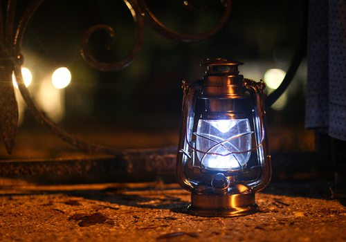 Lantern on ghost tour Shutterstock image.