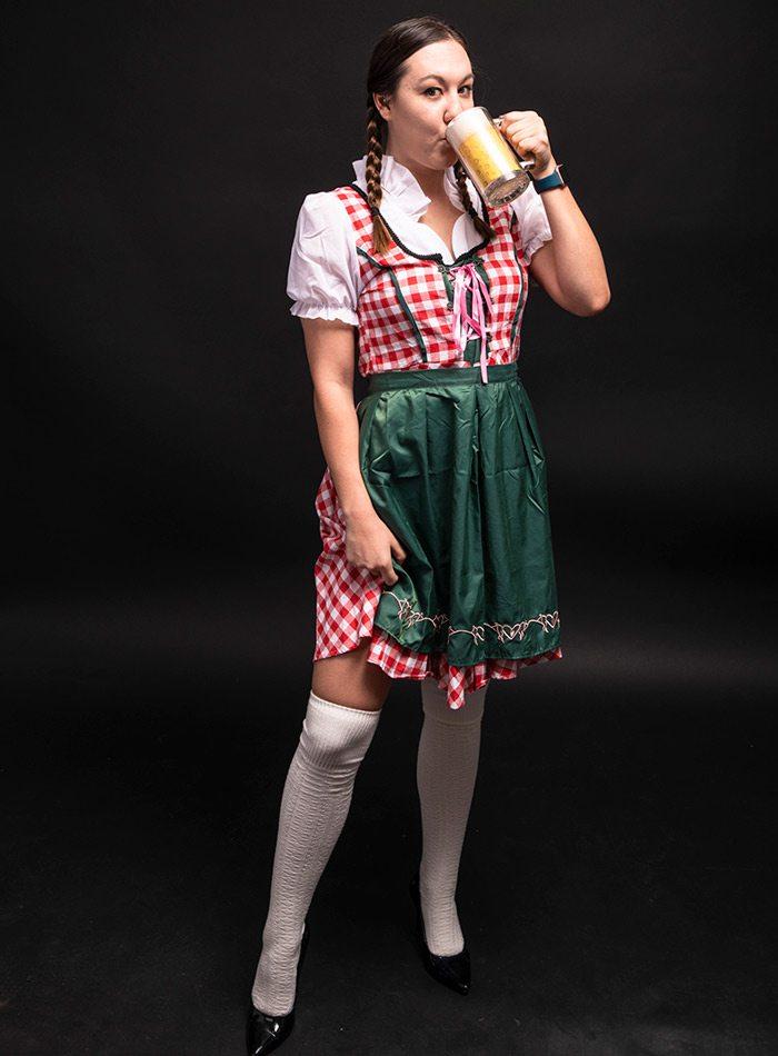 Lauren Silva as a German beer maid Halloween 2019
