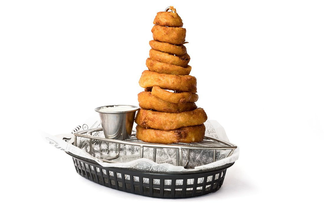 Onion ring tower from Lemonade House Grill in Ozark, MO.