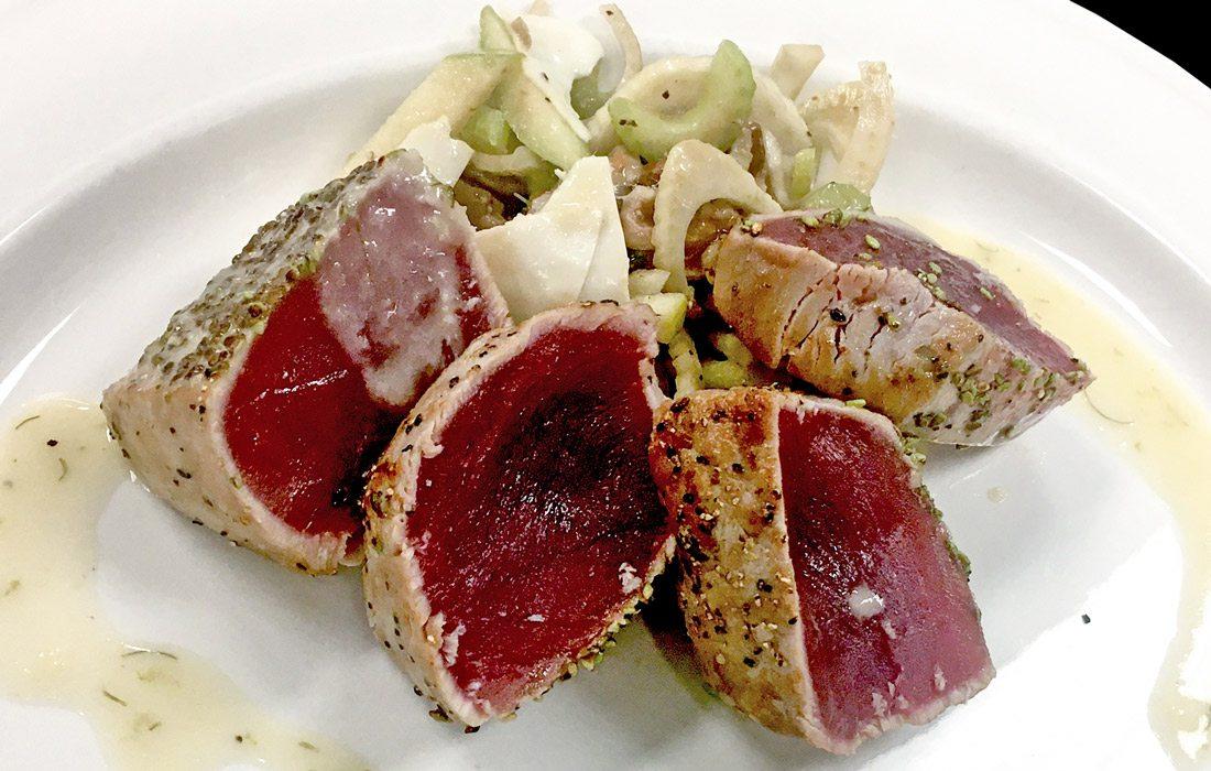 Grilled Ahi Tuna at Level 2 Steakhouse