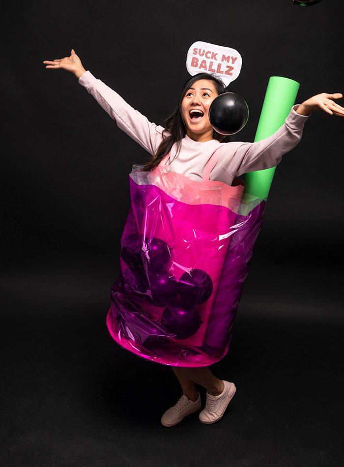 Linda Huynh as boba tea Halloween 2019