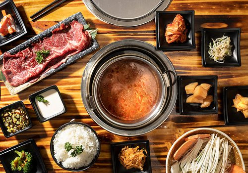 Build your own hot pot ingredients at Little Korea in Springfield MO