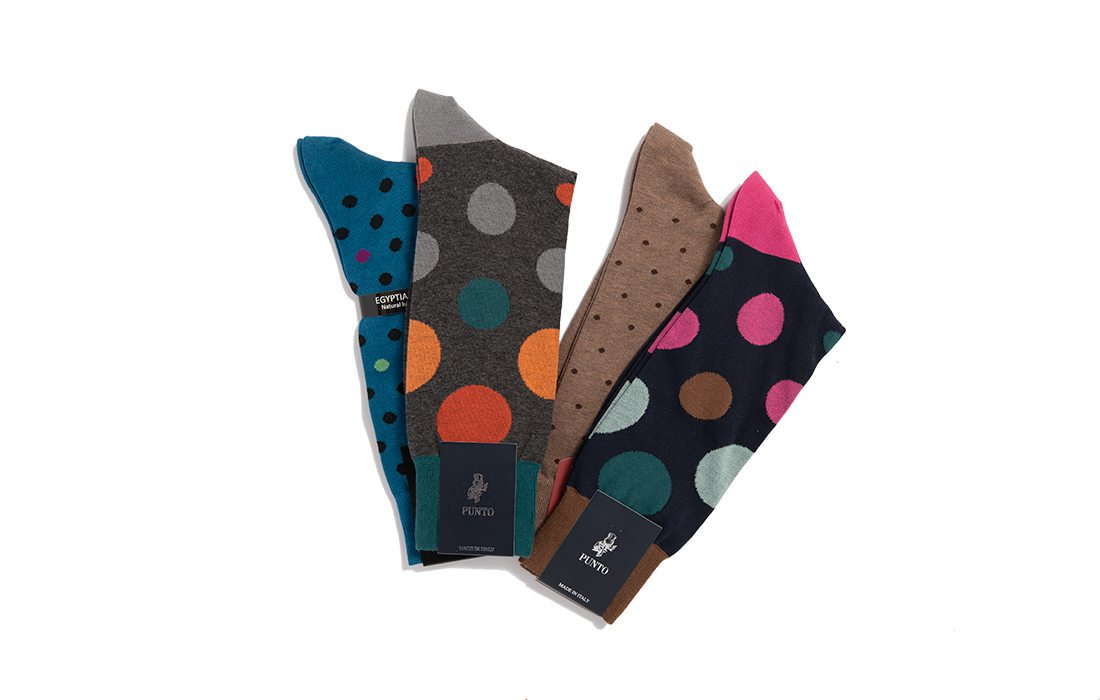 Polka Dot Socks from Town & County