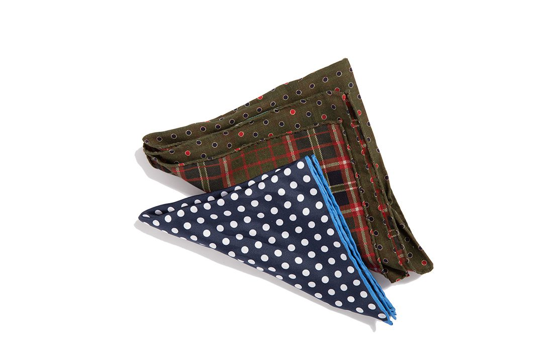 Spotted Pocket Squares from Town & County