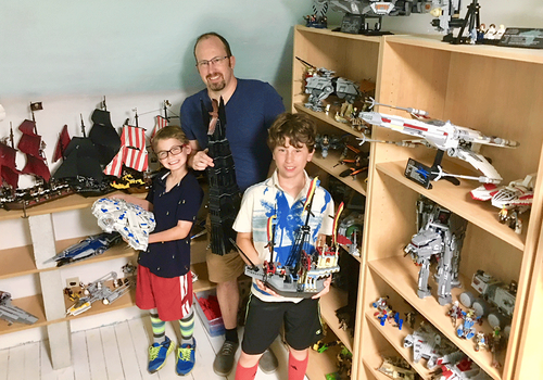 Local businessman Matt Battaglia with his family