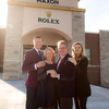 Ryan Olson, Jessica Harmison-Olson, Jane and Rick McElvaine of Maxon's Fine Jewelry in Springfield MO