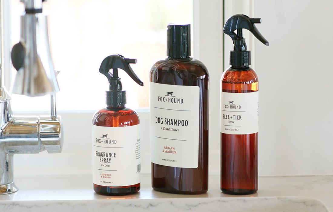 Fox + Hound's full line of products includes fragrance spray, dog shampoo and flea and tick spray.